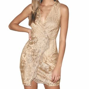 Lulu's Star of the Night Dress Sleeveless Bodycon